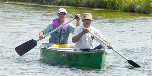 Canoeing in Lewistown, Montana