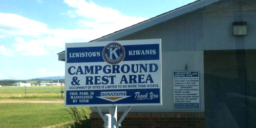 Kiwanis Campground in Lewistown, Montana